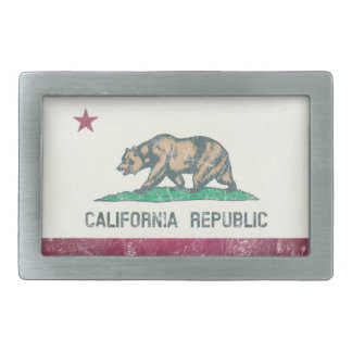 Washed Out California Republic Flag Belt Buckle