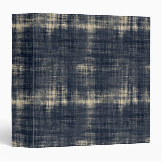 Washed Out Dark Blue Fabric 3 Ring Binder