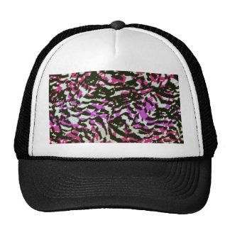 Washed Out Zebra Pattern Mesh Hats