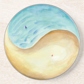 """Washed Up and Swept Away"" Mandala Drink Coaster"