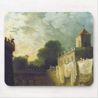 Washerwomen in the Moat of an Italian Villa Mouse Pad