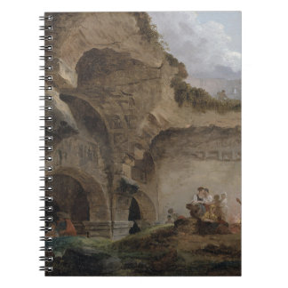 Washerwomen in the Ruins of the Colosseum Hubert Spiral Notebook