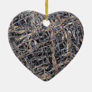 Washi paper under the microscope ceramic heart ornament