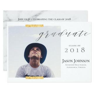 Washi Tape Graduate Photo Announcement Invitation