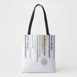 Washi Tape Pastels | DIY & Crafts | Monogram Tote Bag