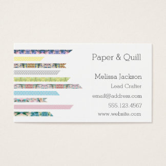 Washi Tape Pastels | DIY & Crafts | Networking Business Card