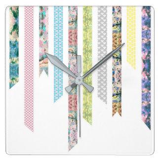 Washi Tape Pastels | DIY & Crafts | Ribbon Strips Clocks