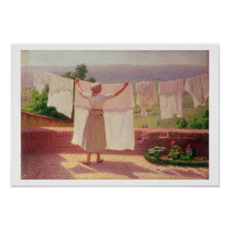 Washing in the Sun Poster