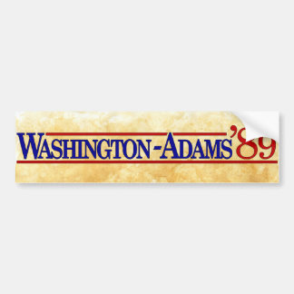 Washington - Adams 2004 Style Bumper Sticker