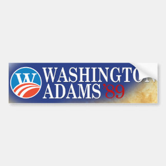Washington - Adams 2008 Style Bumper Sticker