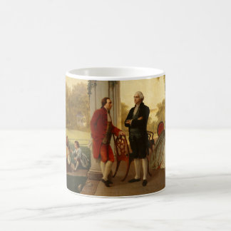 Washington and Lafayette at Mount Vernon 1784 Coffee Mug