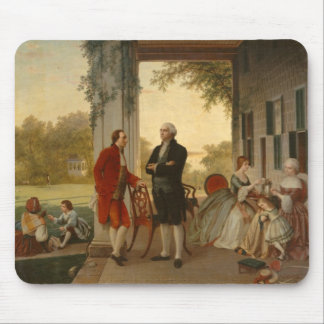 Washington and Lafayette at Mt. Vernon Mouse Pad