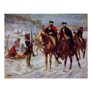 Washington and Lafayette at Valley Forge ~ Poster