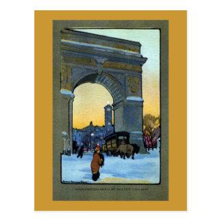 Washington Arch at Winter Twilight Postcard