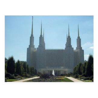 Washington Area Mormon Temple Postcard