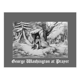 Washington at Prayer Postcard