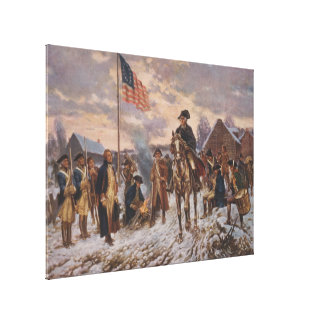 Washington at Valley Forge by Edward Percy Moran Canvas Print