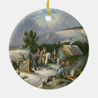 Washington At Valley Forge Ceramic Ornament