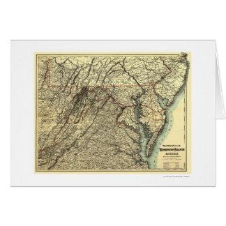 Washington & Atlantic Railroad Map 1883 Card