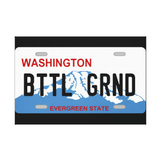 Washington Battle Ground license plate canvas Canvas Prints