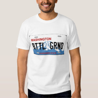 Washington Battle Ground license plate Tshirt