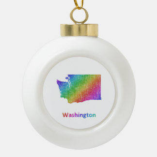 Washington Ceramic Ball Christmas Ornament