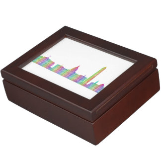 Washington city skyline keepsake box
