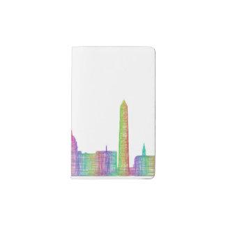 Washington city skyline pocket moleskine notebook