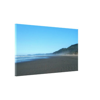 Washington Coastal Scene Stretched Canvas Print