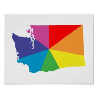 washington color burst poster