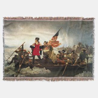 Washington Cross-Dressing Delaware Throw Blanket