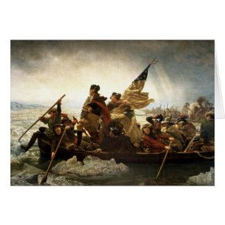 Washington Crossing the Delaware - 1851 Card