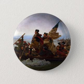 Washington Crossing the Delaware by Emanuel Leutze 2 Inch Round Button
