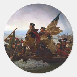 Washington Crossing the Delaware by Emanuel Leutze Round Sticker