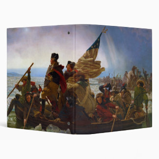 Washington Crossing the Delaware by Emanuel Leutze Vinyl Binder