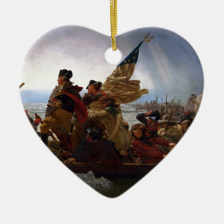 Washington Crossing the Delaware - US Vintage Art Ceramic Ornament