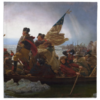 Washington Crossing the Delaware - US Vintage Art Napkin