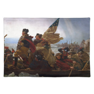 Washington Crossing the Delaware - US Vintage Art Placemat
