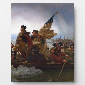 Washington Crossing the Delaware - US Vintage Art Plaque