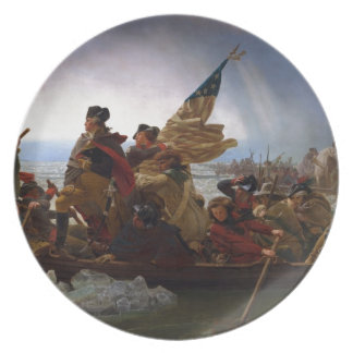 Washington Crossing the Delaware - US Vintage Art Plate