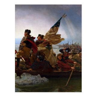 Washington Crossing the Delaware - US Vintage Art Postcard