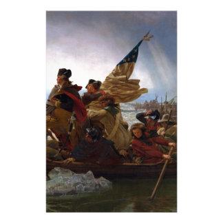 Washington Crossing the Delaware - US Vintage Art Stationery