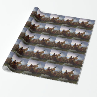 Washington Crossing the Delaware - US Vintage Art Wrapping Paper