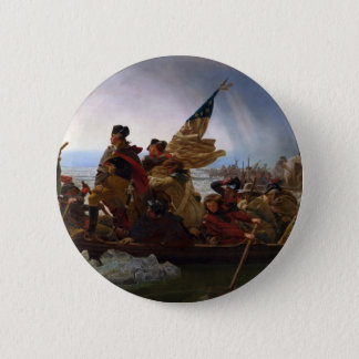 Washington Crossing the Delaware - Vintage US Art 2 Inch Round Button