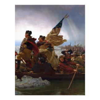 Washington Crossing the Delaware - Vintage US Art Custom Letterhead