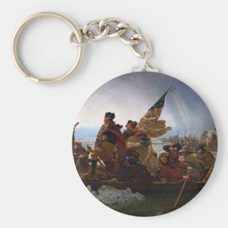 Washington Crossing the Delaware - Vintage US Art Keychain