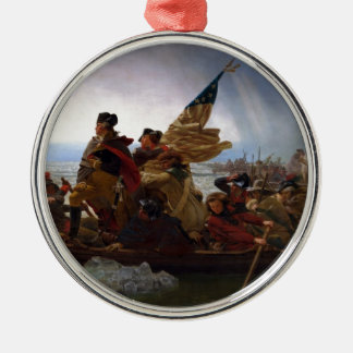 Washington Crossing the Delaware - Vintage US Art Metal Ornament