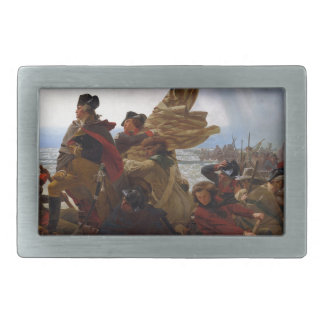 Washington Crossing the Delaware - Vintage US Art Rectangular Belt Buckle