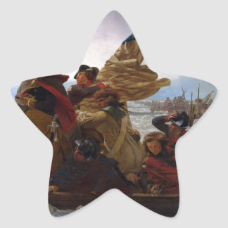 Washington Crossing the Delaware - Vintage US Art Star Sticker