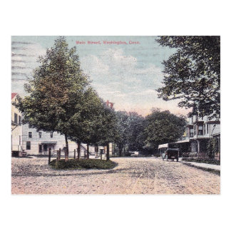 Washington CT, Main Street, 1914 Postcard